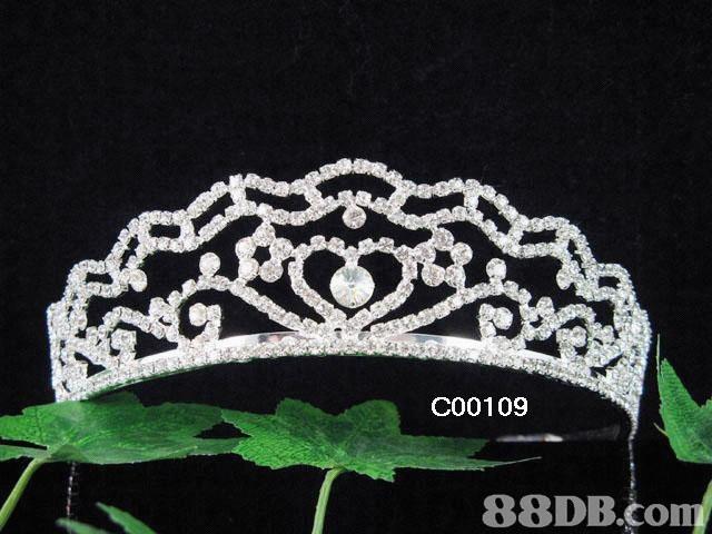 結婚飾物銷售, 包括頭冠 , 結婚飾針 , 髮梳 , 珠寶頸鏈套裝 , 新娘手套 , 頭紗
