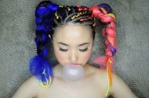 Hair,Hairstyle,Purple,Lip,Forehead