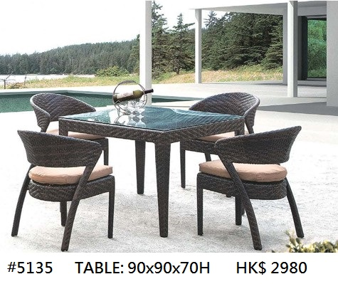 HK$ 2980 #5135 TABLE: 90X90X70H,Furniture,Table,Kitchen & dining room table,Outdoor table,Chair