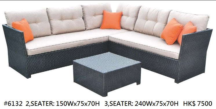 #6132 2,SEATER: 150WX75X70H 3,SEATER: 240WX75X70H HK$ 7500,Furniture,Couch,Wicker,Sofa bed,studio couch