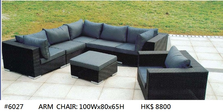 #6027 HK$ 8800 ARM CHAIR: 100WX80X65H,Furniture,Couch,Wicker,studio couch,Sofa bed