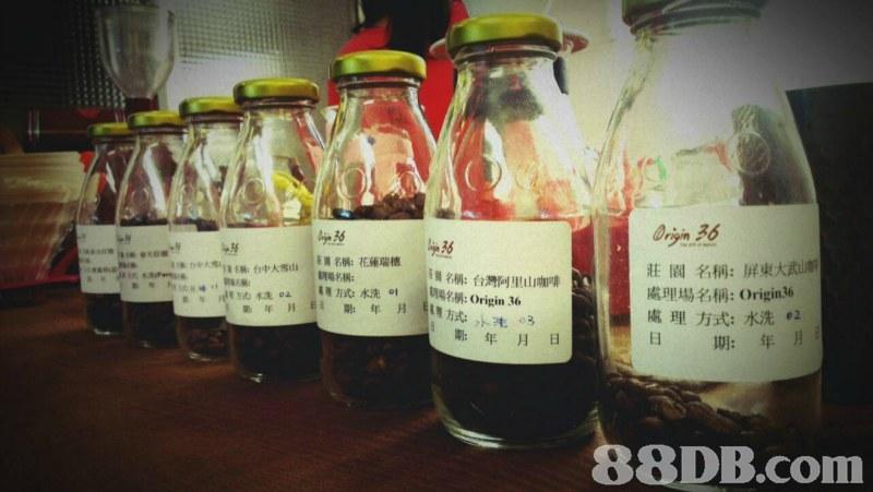 J& @cfǐ濔 Eq名稱:花蓮瑞穗 園名稱:屏東大武in 處理場名稱: Origin36 處理方式:水洗e2 日期:年月 HSu1a EM:台中大雪山 名稱:台灣阿里山咖啡 期:年月日   liqueur,bottle,distilled beverage,glass bottle,drink