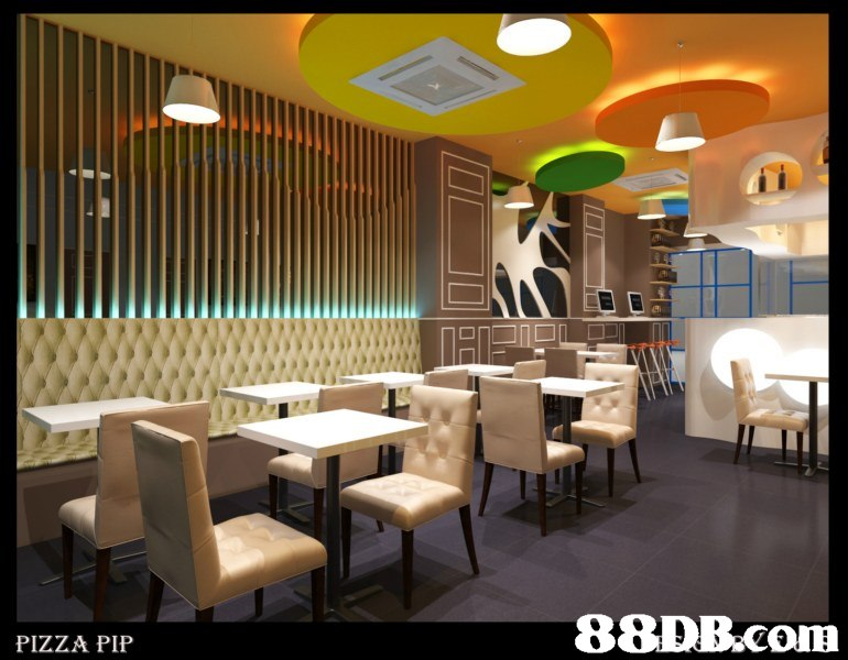 PIZZA PIP  Interior design,Restaurant,Building,Room,Furniture