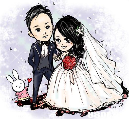 CB  Cartoon,Illustration,Bride,