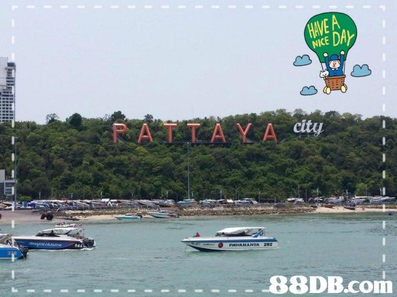 EA NICE ど ATA Y A cty 844 PAWAMANTA 282,water transportation,waterway,tourism,sky,vehicle