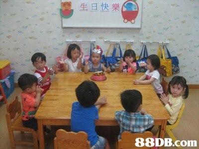 生旦快樂   School,Kindergarten,Class,Private school,Classroom
