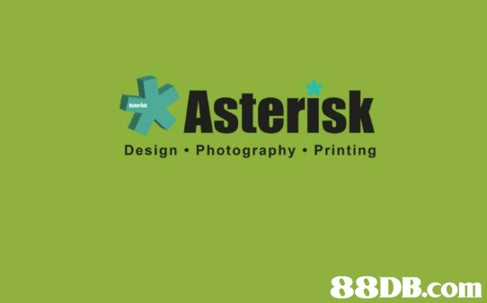 Asterisk Design Photography Printing   green,text,yellow,font,logo