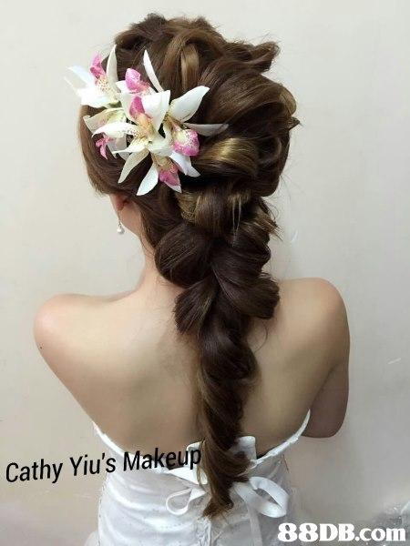 Cathy Yiu's Make,hair,hairstyle,flower,headpiece,hair accessory
