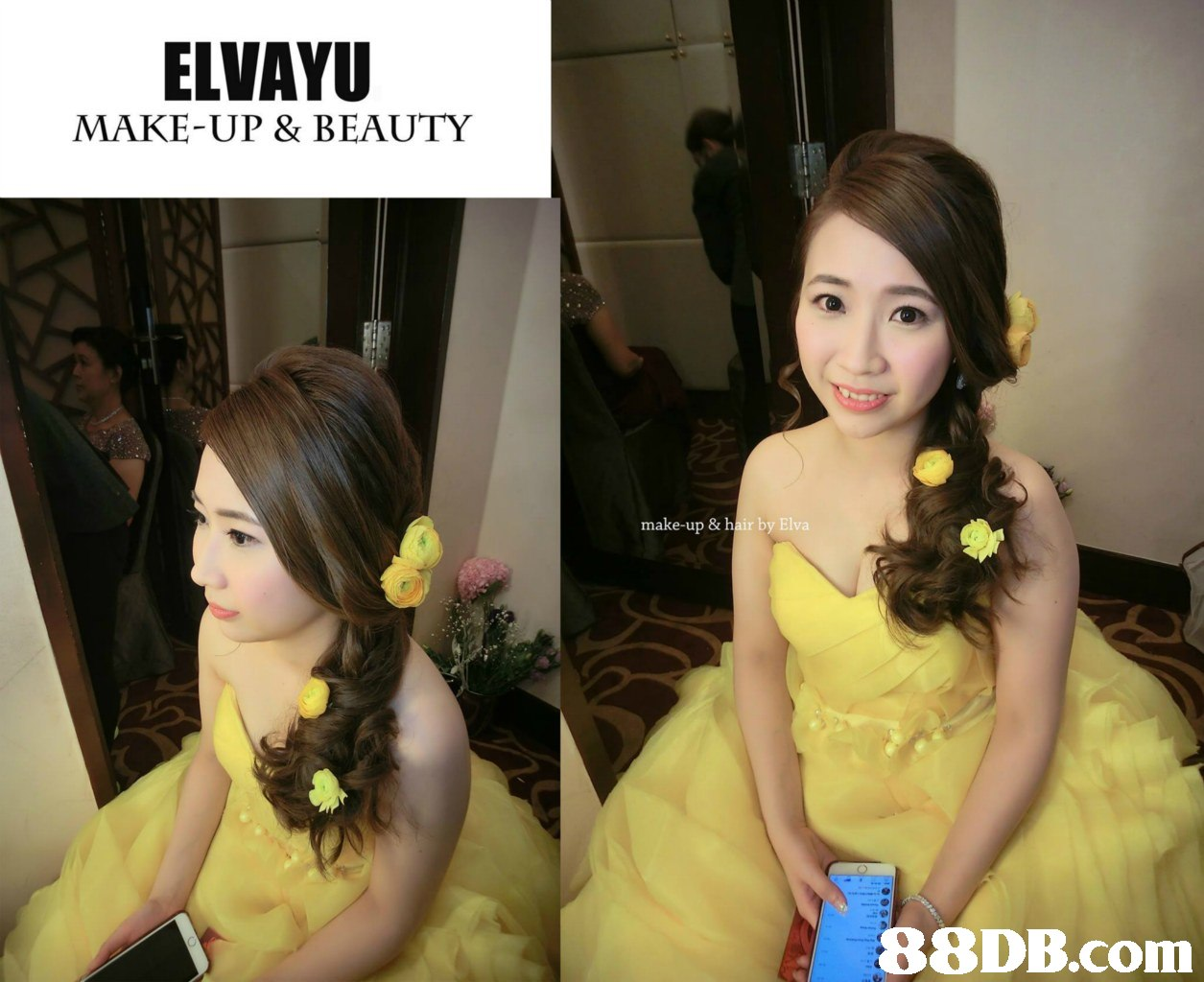ELVAYU MAKE-UP & BEAUTY make-up & hair by Elva 88DB.com  hairstyle