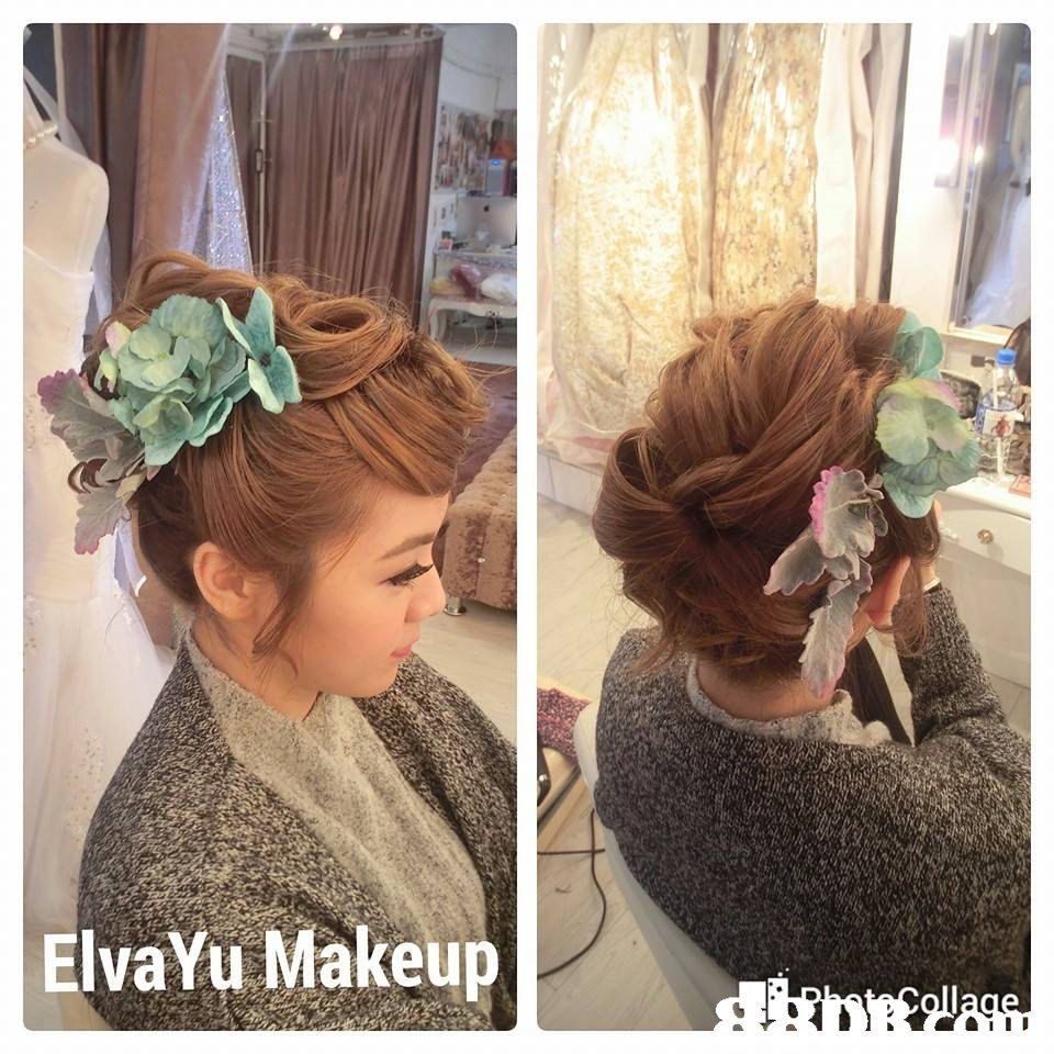 ElvaYu Makeup,hair,hairstyle,hair accessory,headpiece,hair coloring