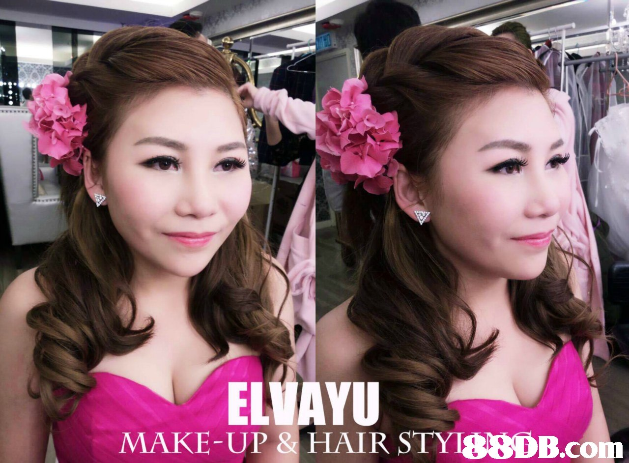 ELVAYU MAKE-UP & HAIR STYI,hair,pink,beauty,hairstyle,fashion accessory