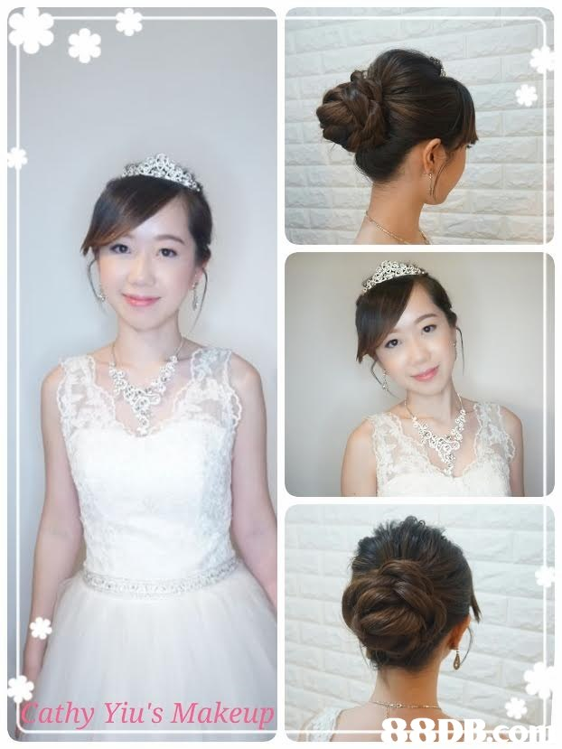 Cathy Yiu's Makeup,hair,bride,hair accessory,headpiece,hairstyle