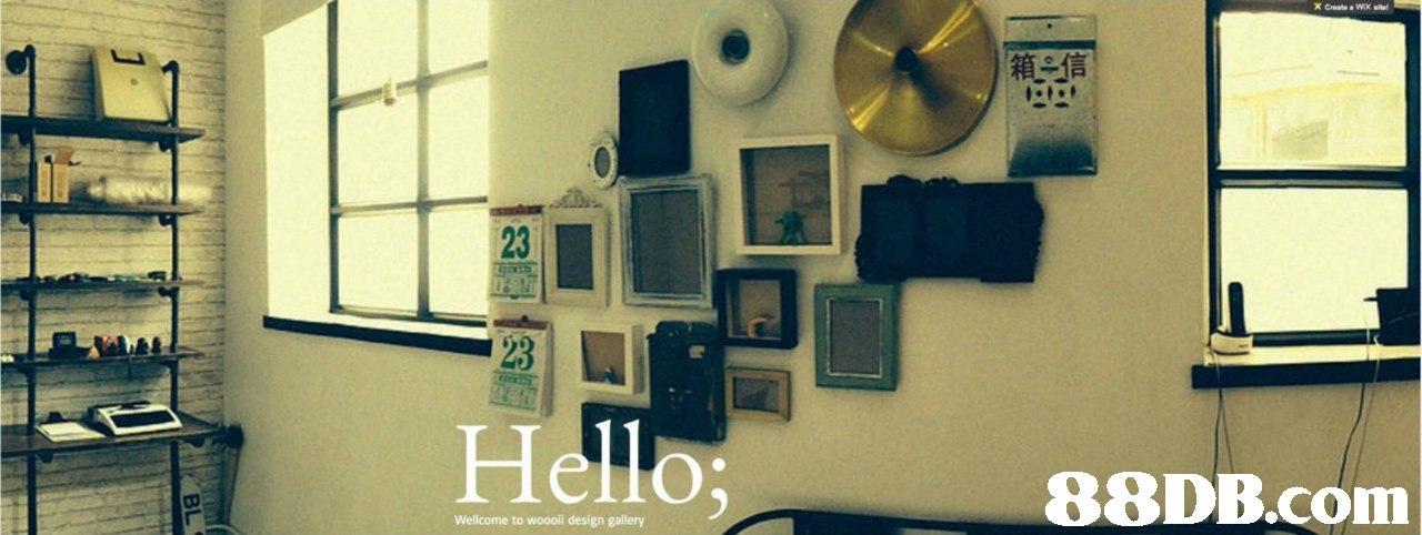 箱一信 23 Hello  Wellcome to woooii design gallery  Electronics,Room,Technology