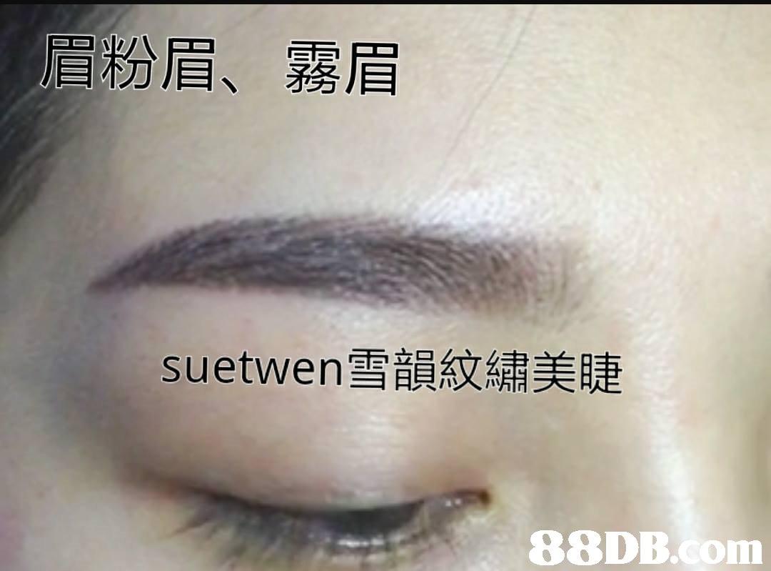 眉粉眉、 霧眉 suetWen雪韻紋繡美睫 88DB.com  eyebrow
