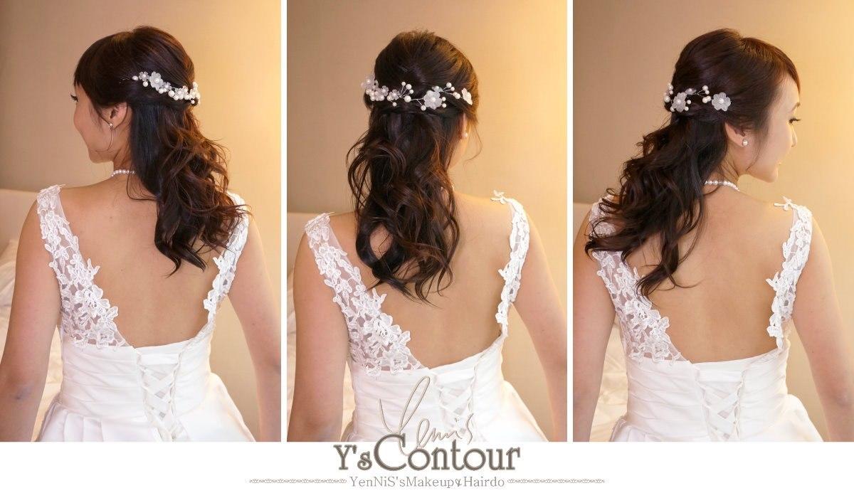 Y's Contour enNiS'sMakeupHairdo,hair,gown,bride,hair accessory,headpiece