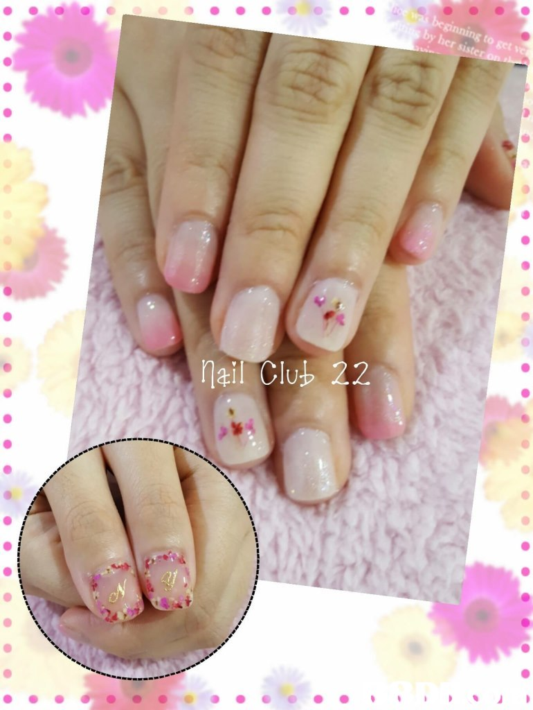 by her sing to s ail Clup 22,nail,finger,pink,hand,nail care