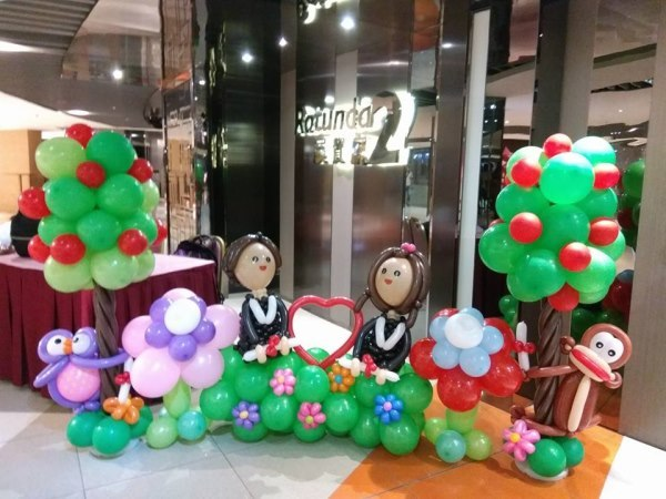 現凡恵顧800元以上百日宴,生日派對氣球佈置, 附送10個氣球糖果杯 歡迎預訂各類氣球禮物,結婚,生日會,畢業等派對氣球佈置