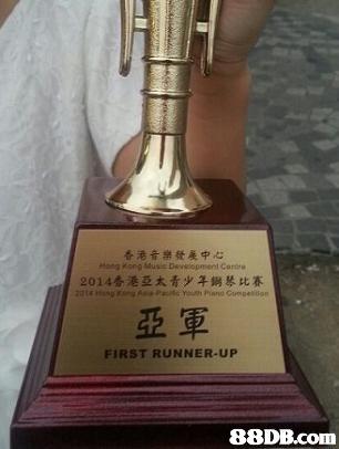 香港音樂發展中心 2014香港亞太青少年鋼琴比赛 FIRST RUNNER-UP,trophy,award,