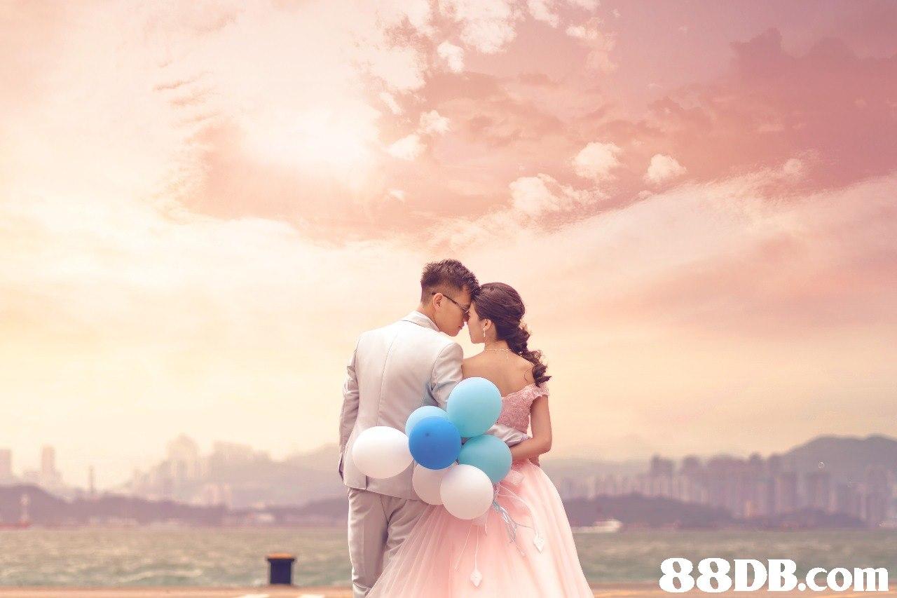 photograph,pink,man,sky,romance