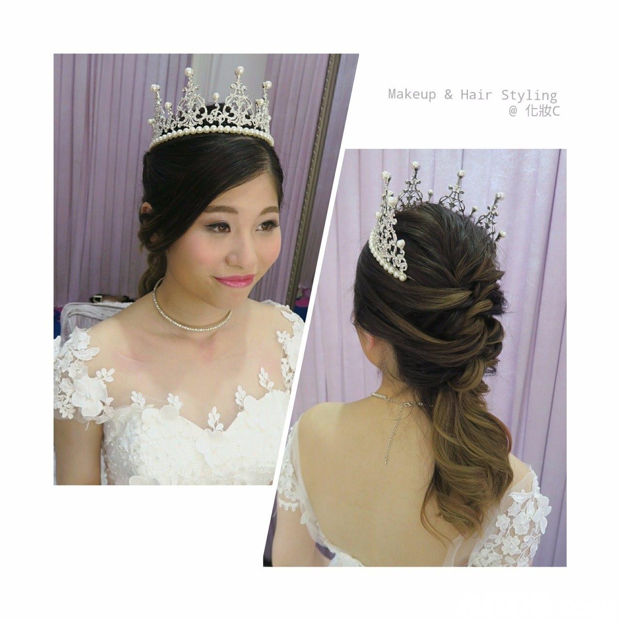 Makeup & Hair Styling @化妝c,headpiece,hair accessory,bride,jewellery,fashion accessory