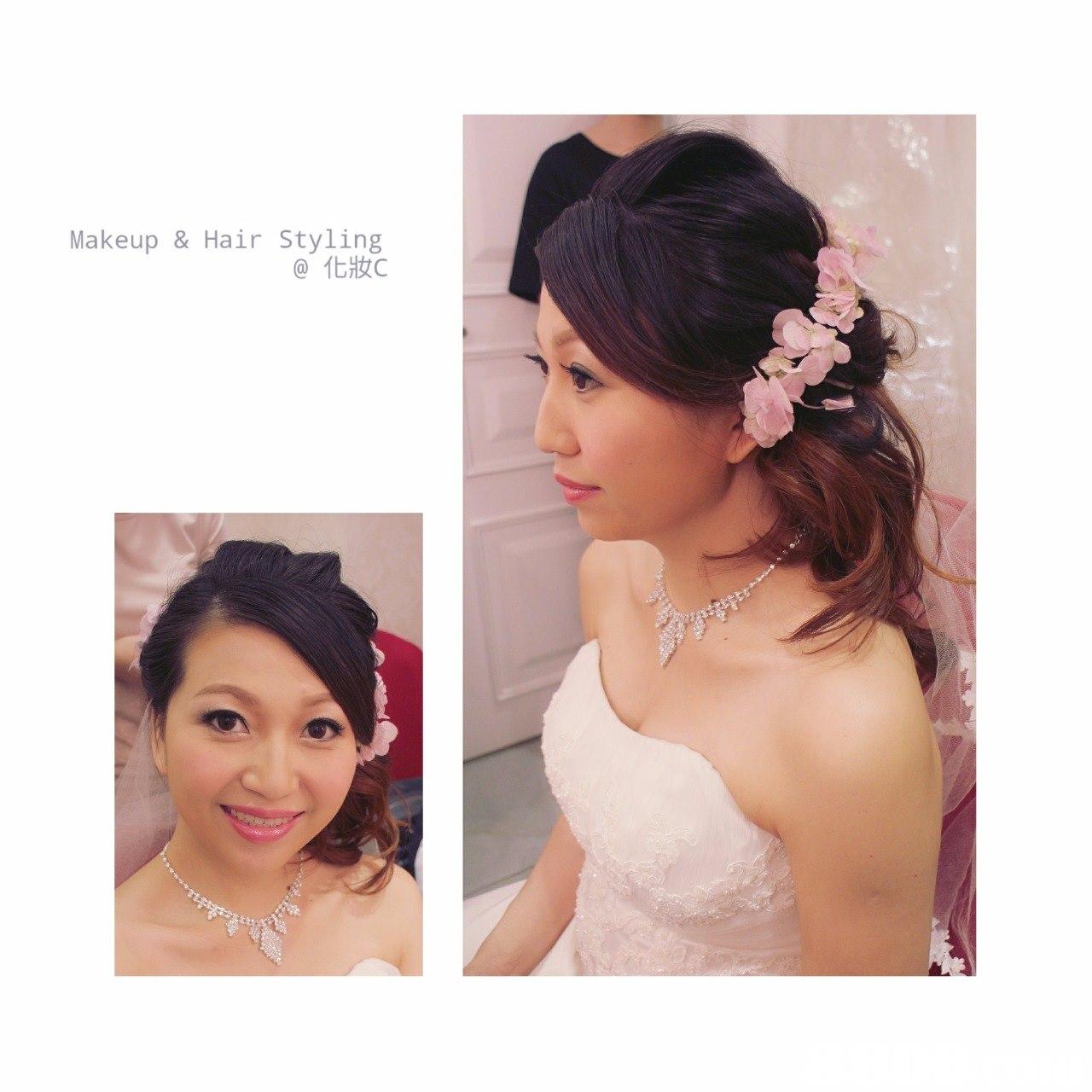Makeup & Hair Styling @化妝c,hair,bride,hair accessory,headpiece,forehead