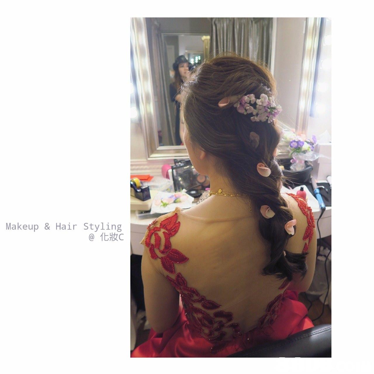 Makeup & Hair Styling @化妝c,hair,hairstyle,shoulder,neck,long hair