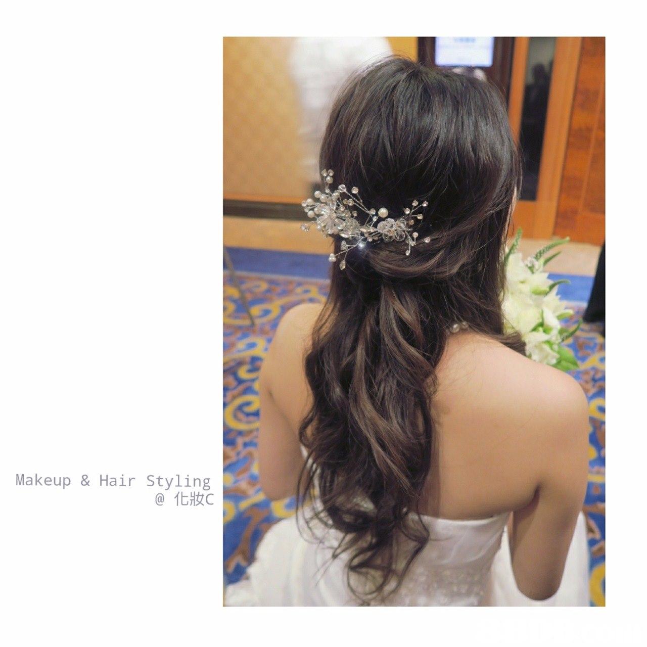 Makeup & Hair Styling @化妝c,hair,headpiece,hair accessory,jewellery,hairstyle