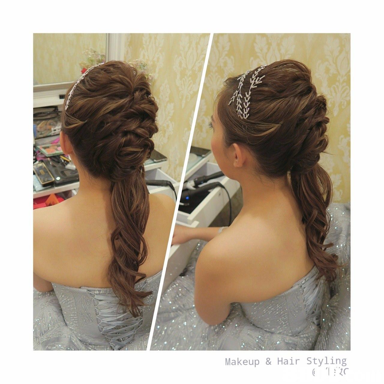 Makeup &Hair Styling,hair,hairstyle,chignon,long hair,bun
