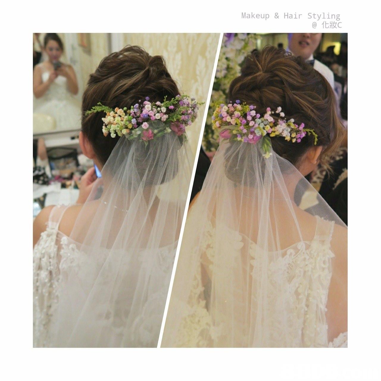 Makeup & Hair Styling @化妝c,flower,gown,flower arranging,bride,flower bouquet