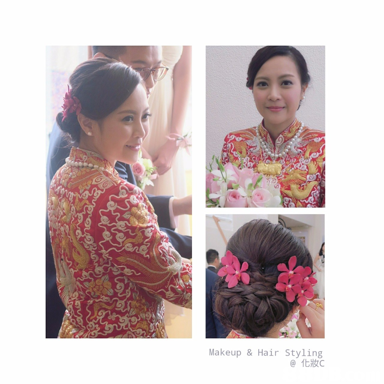 Makeup & Hair Styling @化妝C,pink,hairstyle,fashion accessory,hair accessory,tradition