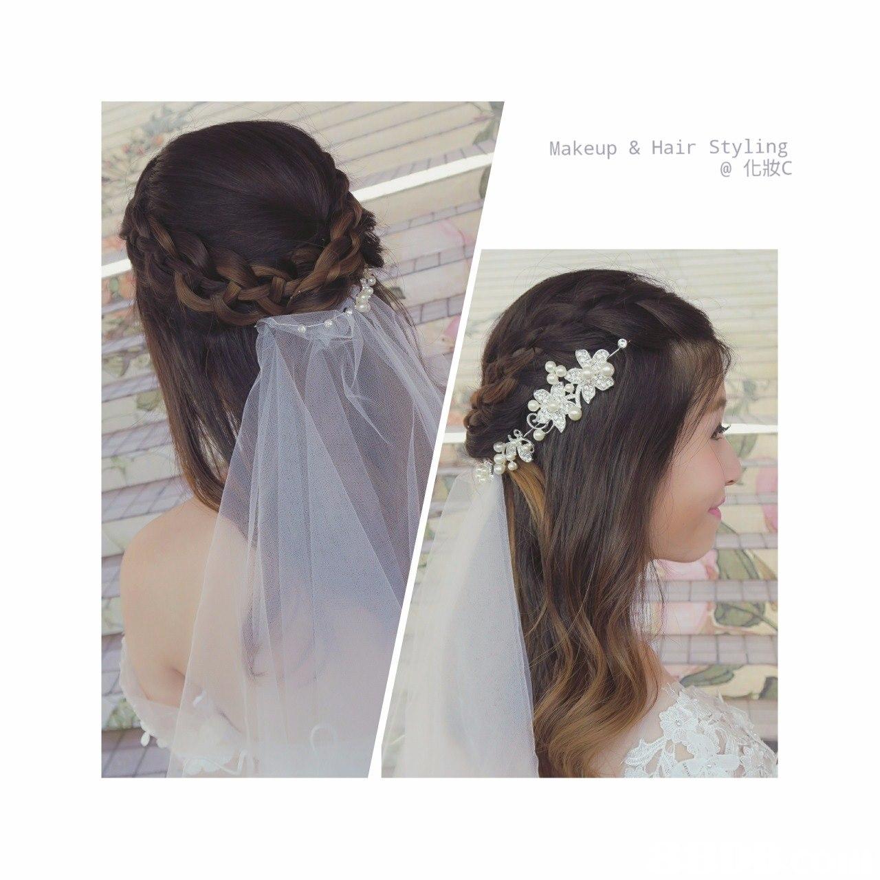 Makeup &Hair Styling @化妝c,hair,headpiece,hair accessory,bridal veil,bridal accessory