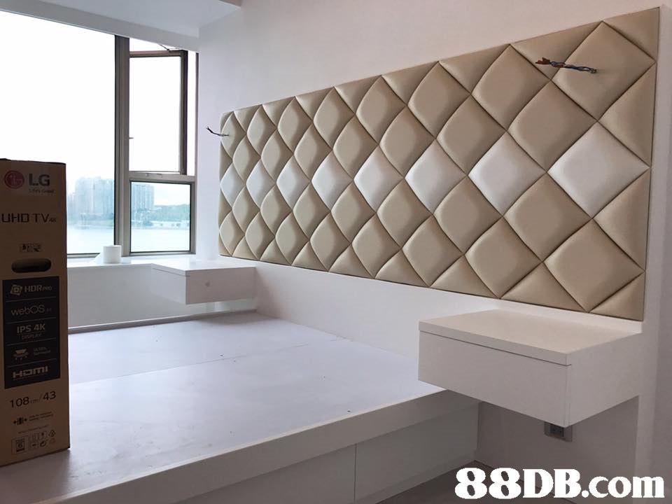 LG UHB TV webos IPS AK 108 43   property,wall,interior design,architecture,real estate