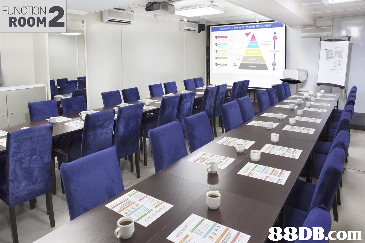 FUNCTION ROOM MASLOW'S HIERARCHY OF EMPLOYEE ENGAGEMENT,conference hall,classroom,technology,