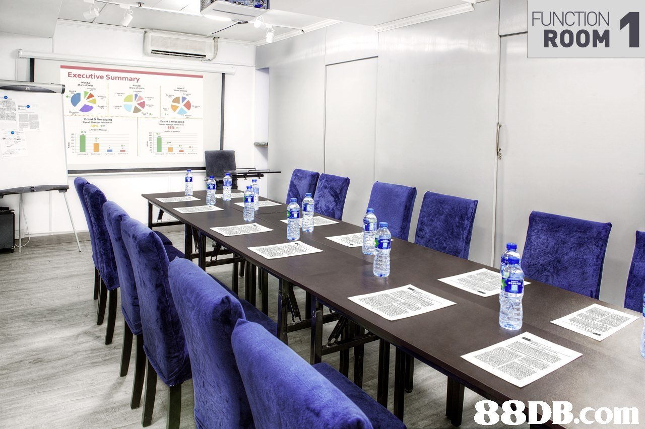 FUNCTION ROOM Executive Summary LT,conference hall,table,
