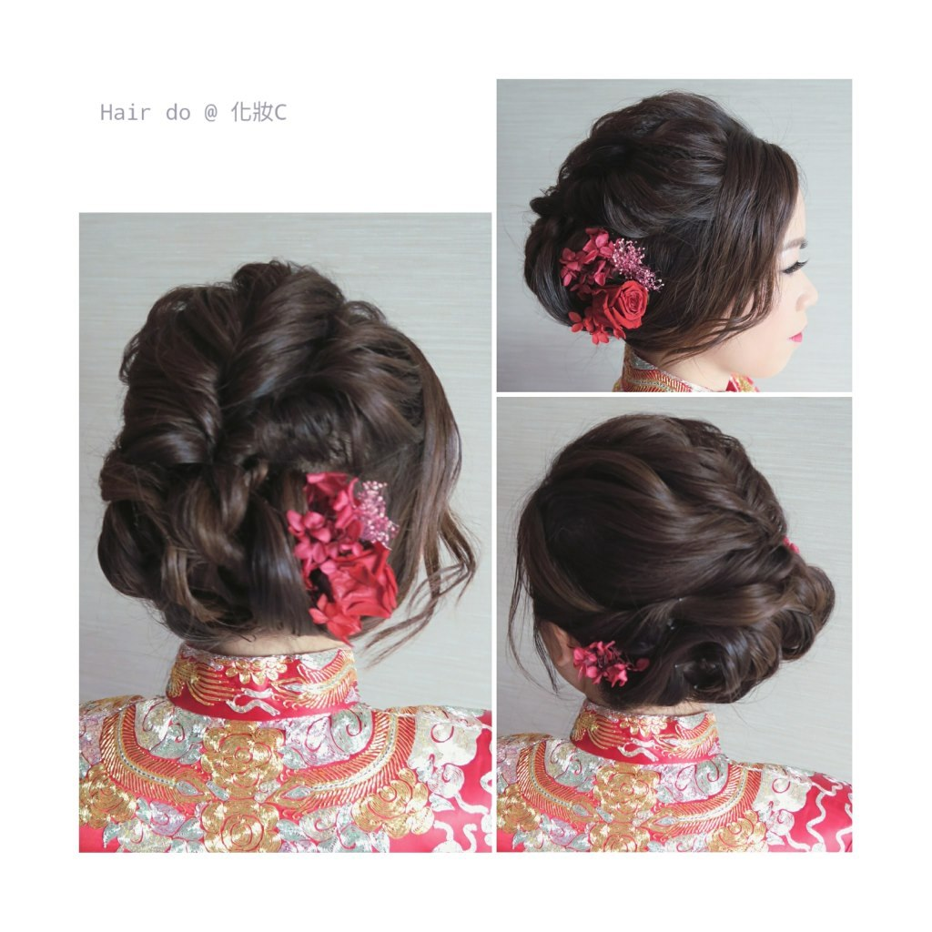 Hair do @化妝C CO,hair,hairstyle,long hair,bun,hair tie