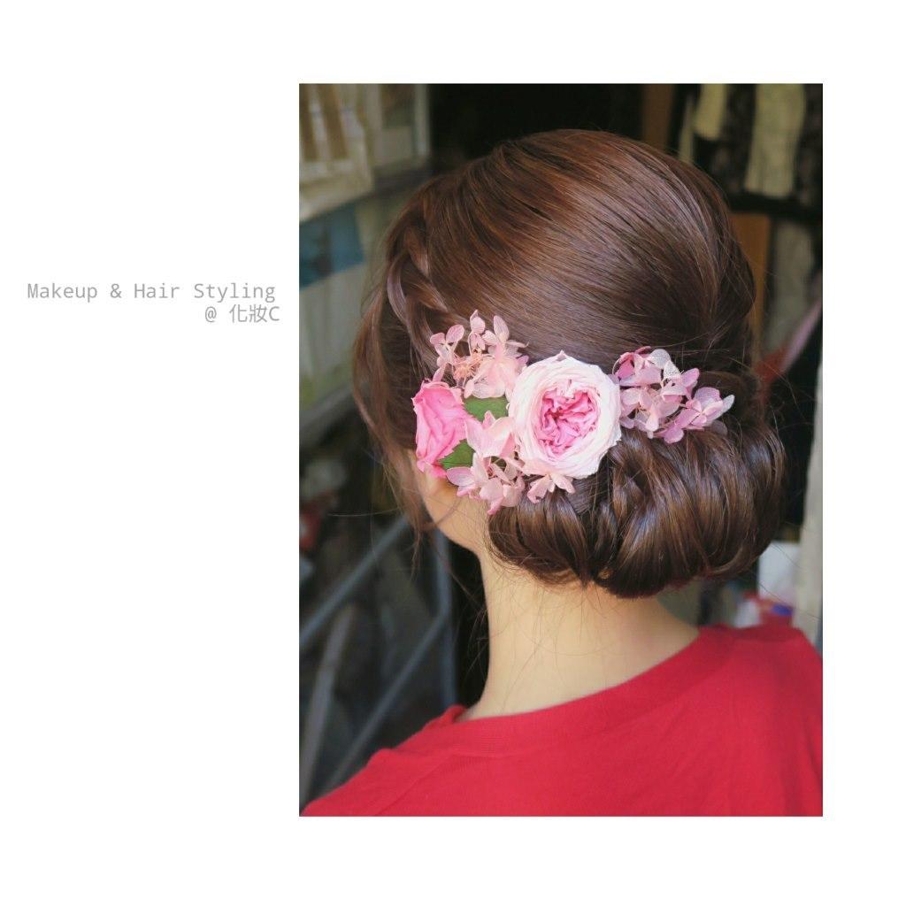 Makeup & Hair Styling @化妝c,hair,hairstyle,flower,hair accessory,headpiece