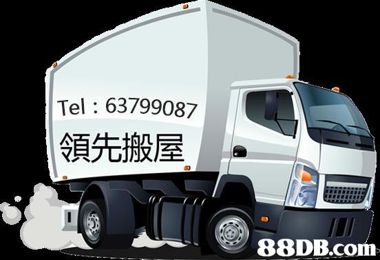 Tel: 63799087 領先搬屋   motor vehicle,transport,vehicle,land vehicle,truck