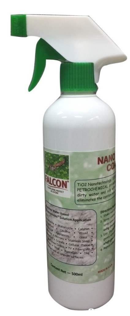 NAN TiO2 Nanot PETROCHEMICAL dirty water and eliminates the Solution Application Mo torcycle Cabinet' Chrome wood * Stainless Steel anite Celluaerelass Surfaces. Net- 500ml  product,product,spray,