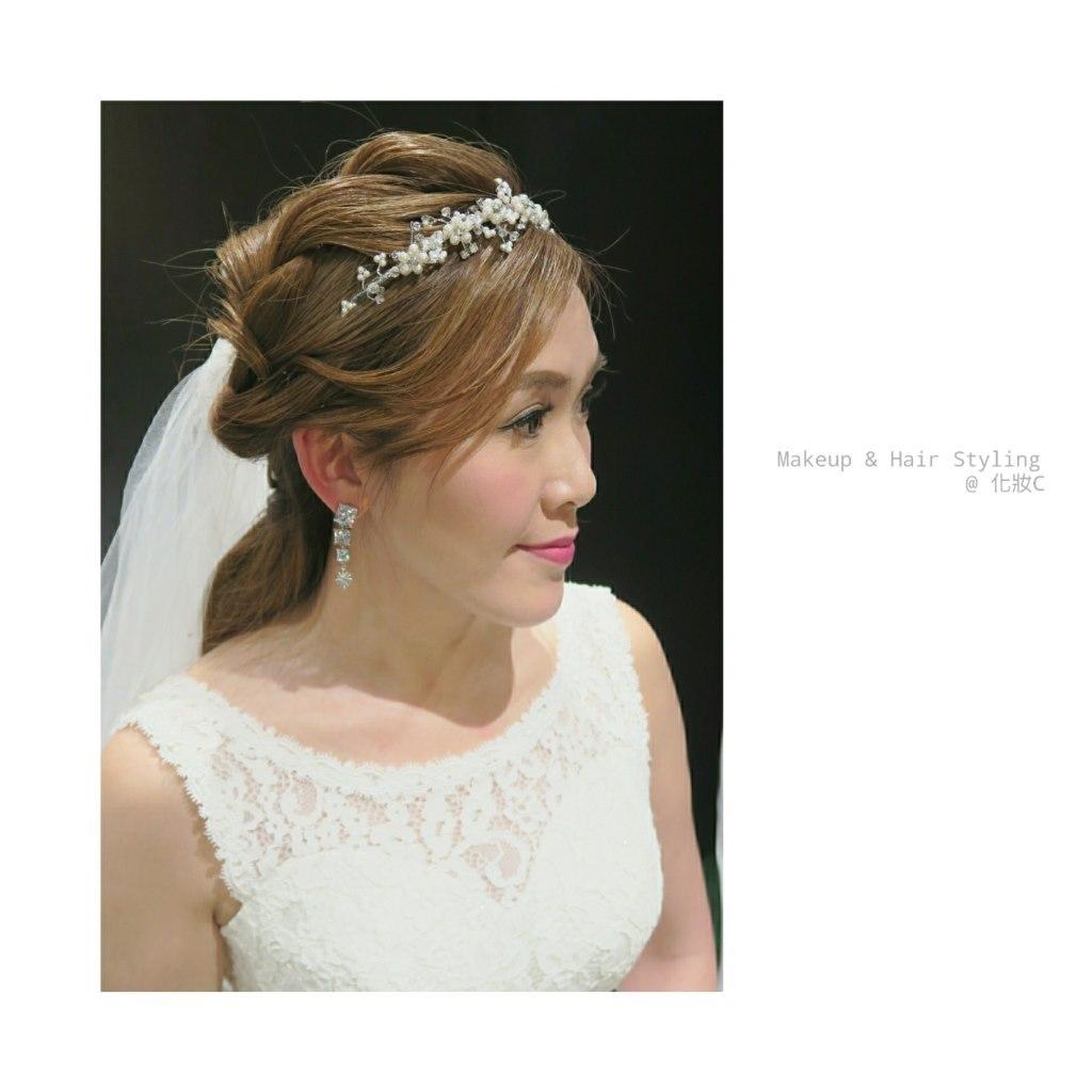 Makeup & Hair Styling @化妝с,jewellery,headpiece,hair accessory,bridal veil,bridal accessory