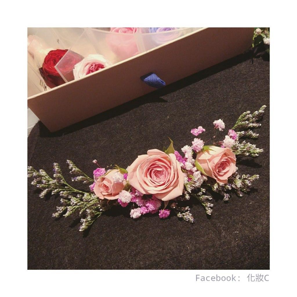 Facebook: 化妝C,pink,flower,flower arranging,rose family,rose