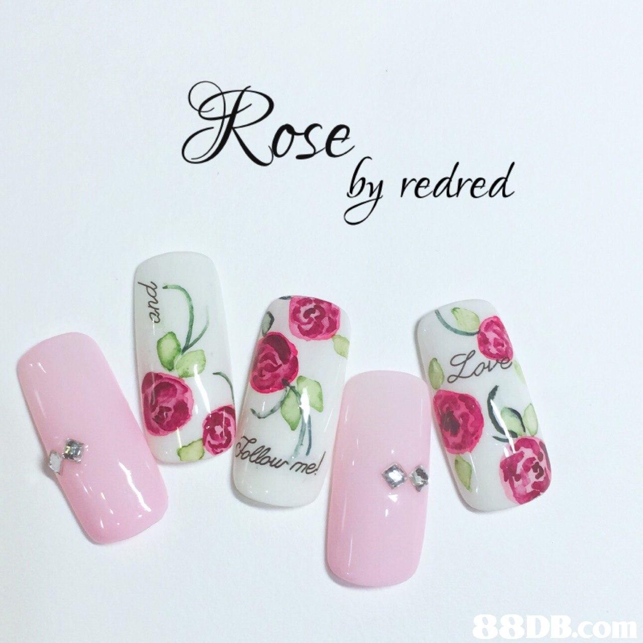 Rose hy redred  Nail,Pink,Nail care,Artificial nails,Nail polish
