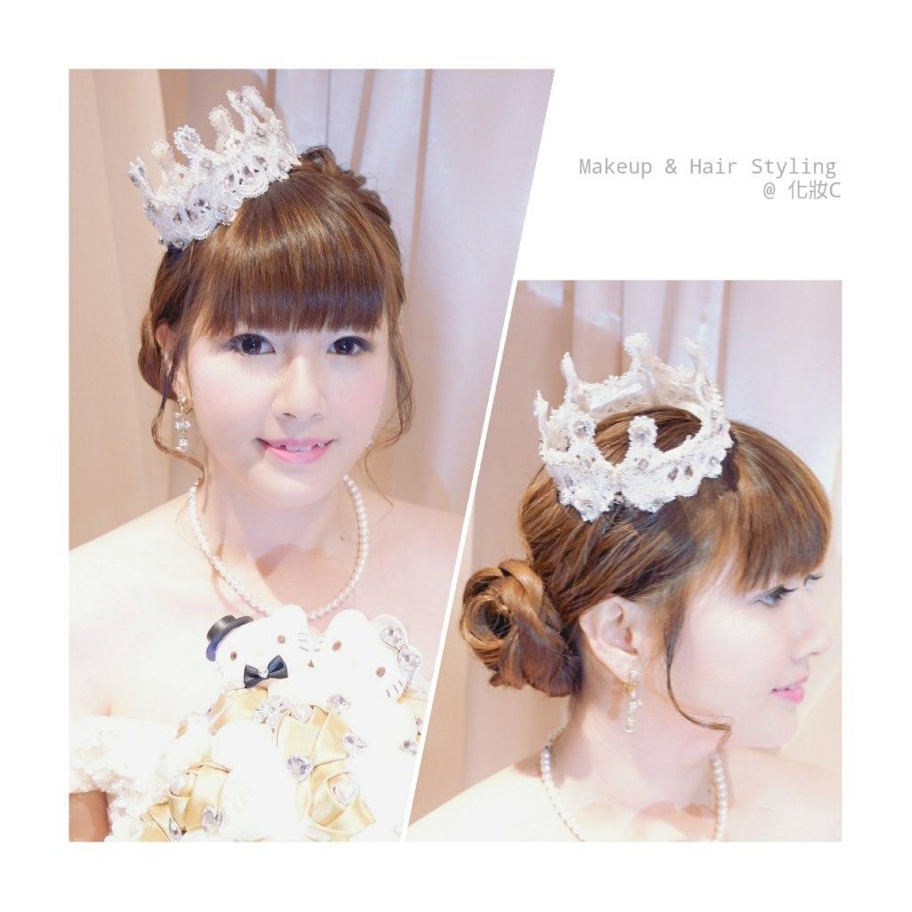 Makeup & Hair Styling @化妝c,hair accessory,headpiece,jewellery,fashion accessory,bride