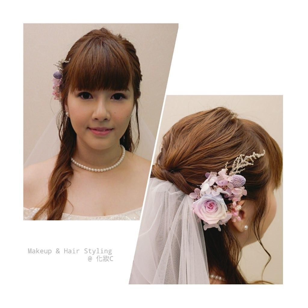 Makeup & Hair Styling @化妝с,hair,hairstyle,hair accessory,headpiece,forehead