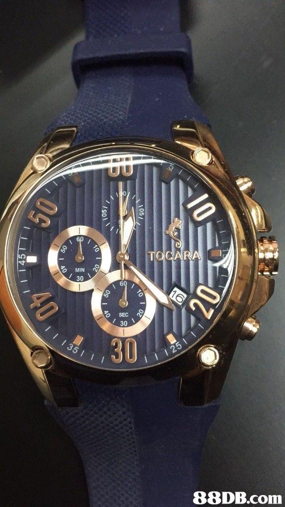 0 TOCARA O MIN 30 SEC 30 30   watch,watch accessory,strap,watch strap,brown