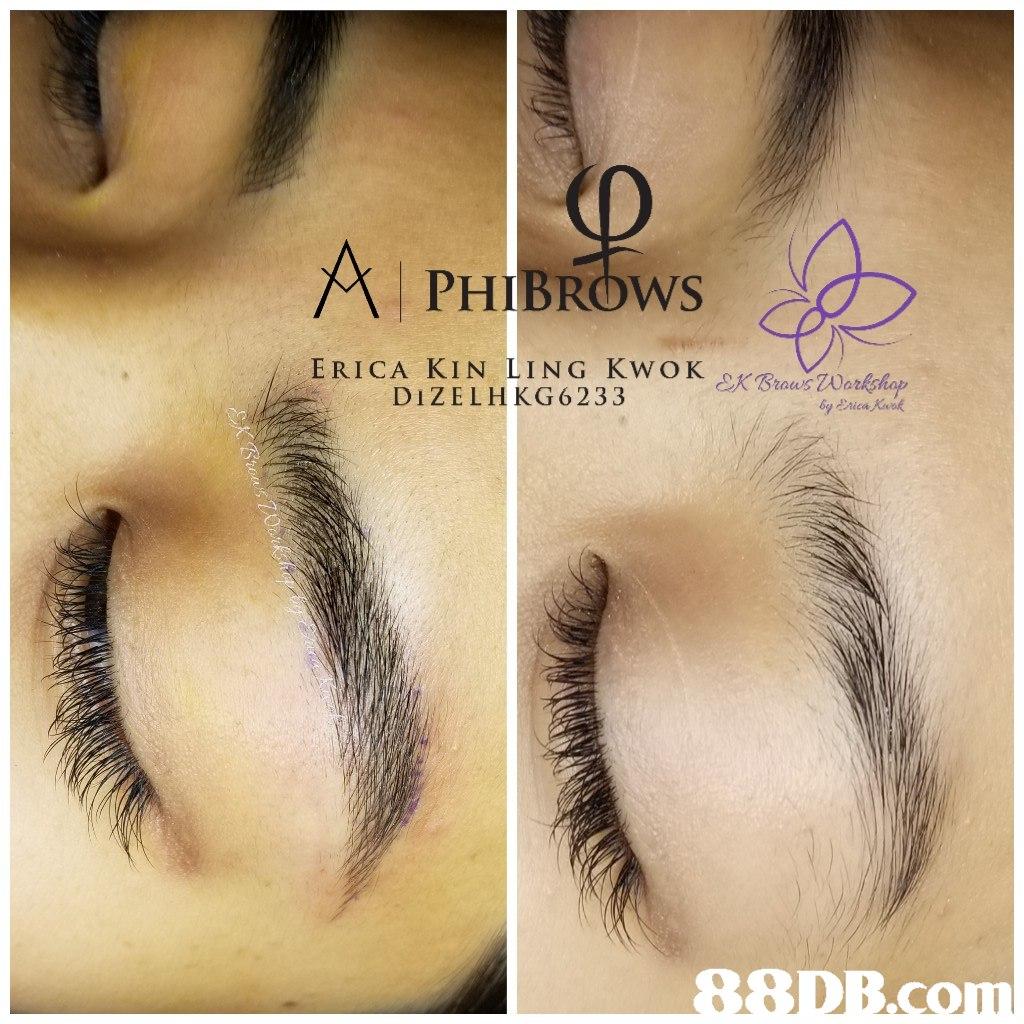 PHIBROWS ERICA KIN LING KWOK DIZELHKG6233 Rica  eyebrow,eyelash,nose,forehead,eye