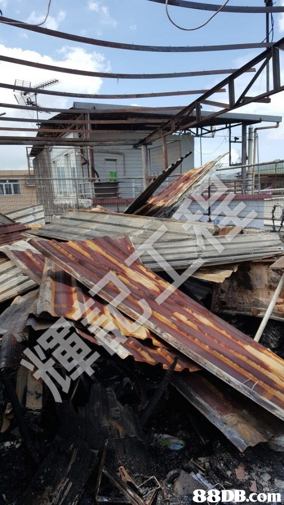 scrap,metal,wood,roof,