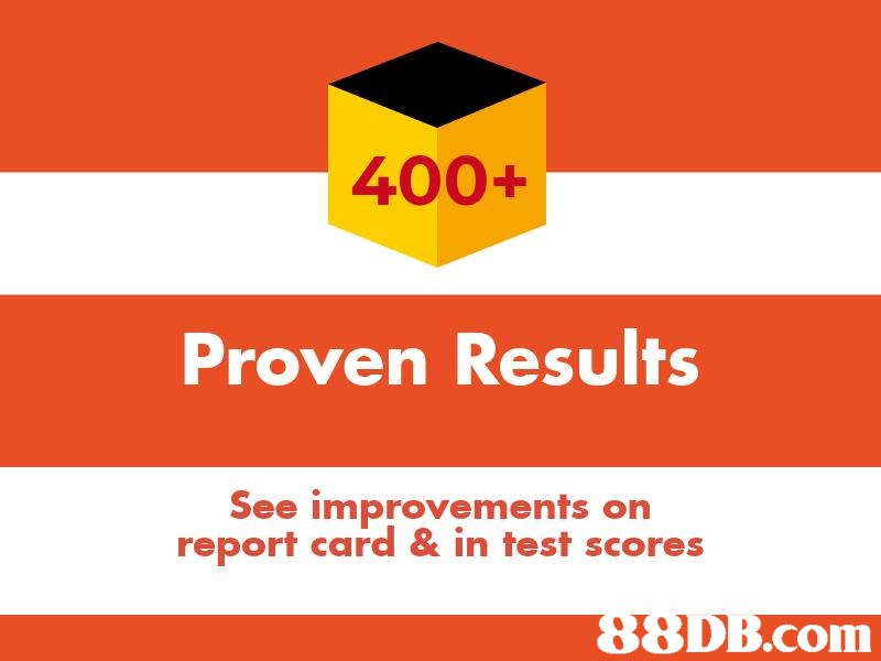 400+ Proven Results See improvements orn report card & in test scores .com  text