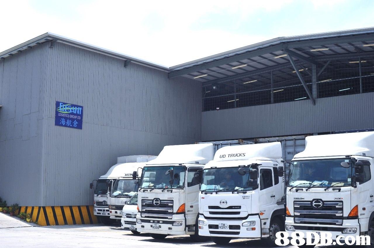 LOGISTICS GROUP LTD 海航倉 MRK UD TRUCKS HI 2041 B386  transport,motor vehicle,vehicle,truck,mode of transport