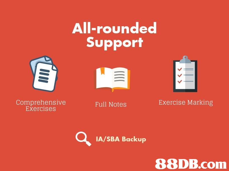 All-rounded Support Comprehensive Exercises Exercise Marking Full Notes IA/SBA Backup 88DB.com  text