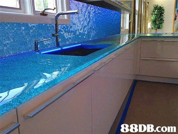 廚房輕裝修翻新水晶檯面效果翻新櫥櫃鋼化玻璃換新廚房墻面翻新 53032458